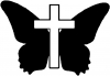Butterfly With Cross Christian car-window-decals-stickers