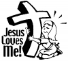 Jesus Loves Me (Girl) Christian car-window-decals-stickers