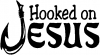 Hooked On Jesus Christian car-window-decals-stickers