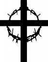 Cross With Thorns Christian car-window-decals-stickers