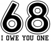 68 I owe you 1 Words car-window-decals-stickers