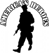 Military American Heroes Military car-window-decals-stickers