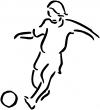 Tribal Soccer Player