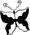 Tribal Butterfly Butterflies car-window-decals-stickers