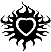 Tribal Flaming Heart