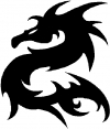 Tribal Dragon Tribal Car Truck Window Wall Laptop Decal Sticker