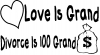 Love Is Grand Funny car-window-decals-stickers