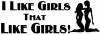 I like Girls Funny car-window-decals-stickers