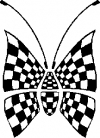 Race Flag Butterfly Butterflies Car Truck Window Wall Laptop Decal Sticker