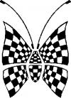 Race Flag Butterfly