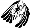 Tribal Angel Christian Car Truck Window Wall Laptop Decal Sticker