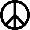 Peace Sign Symbol Christian car-window-decals-stickers