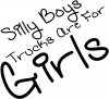 Trucks Are For Girls Off Road Car Truck Window Wall Laptop Decal Sticker