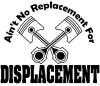 No Replacement For Displacement Moto Sports car-window-decals-stickers