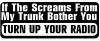 Turn Up Your Radio Funny car-window-decals-stickers