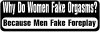Why Do Women Fake Funny car-window-decals-stickers