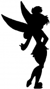 Sillohette Tinkerbell Cartoons Car Truck Window Wall Laptop Decal Sticker