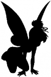 Tinkerbell Sillohette Cartoons Car Truck Window Wall Laptop Decal Sticker