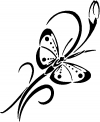 Butterfly with flower Butterflies Car Truck Window Wall Laptop Decal Sticker
