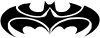 Tribal Batman Tribal Car Truck Window Wall Laptop Decal Sticker