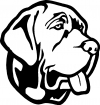 Mastiff Dog Animals car-window-decals-stickers