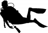 Diver Sports car-window-decals-stickers