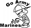 Go Army Pee on Marines Military car-window-decals-stickers