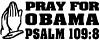 Pray For Obama Political car-window-decals-stickers