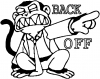 Evil Monkey Back Off Cartoons car-window-decals-stickers