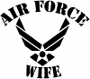 Air Force Wife Military car-window-decals-stickers