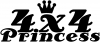 4X4 Princess Off Road car-window-decals-stickers