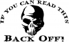 If you can read this back off Skull Skulls car-window-decals-stickers