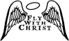 Fly With Christ Decal Christian car-window-decals-stickers