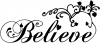 Christian Believe Wall Decal Christian car-window-decals-stickers