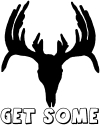 Get Some Deer Skull Decal