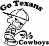 Go Texans Pee On Cowboys Decal