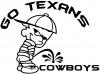 Go Texans Pee On Cowboys Decal