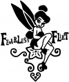 Tinkerbell Fearless Flirt Decal Girlie Car Truck Window Wall Laptop Decal Sticker