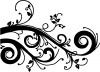 Swirl Vine Wall Decal Swirls Car Truck Window Wall Laptop Decal Sticker