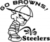 Go Browns Pee On Steelers Decal