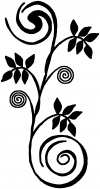 Narrow Swirl Vine Wall Decal