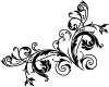 Floral Vine Corner Swirl Wall Decal Swirls Car Truck Window Wall Laptop Decal Sticker