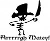 Cute Pirate Arrrrrgh Matey! Decal