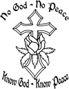 No God - No Peace Know God - Know Peace Christian car-window-decals-stickers