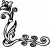 Flower Vine Corner Swirl Wall Decal