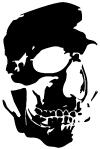 Skull Shadowed Side Decal