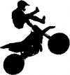Moto X Freestyle Trick Decal Sports Car or Truck Window Decal