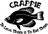 Crappie Fishing Decal
