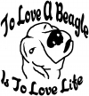 To Love A Beagle Decal
