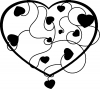 Heart With Vines Decal